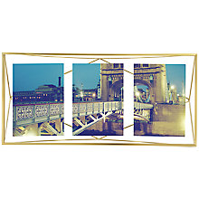 Buy Umbra Prisma Multi Photo Frame, Matt Brass Online at johnlewis.com