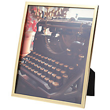 "Buy Umbra Senza Photo Frame, 8 x 10"", Matt Brass Online at johnlewis.com"