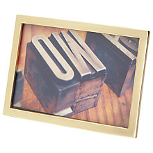 "Buy Umbra Senza Photo Frame, 4 x 6"", Matt Brass Online at johnlewis.com"