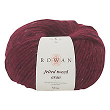 Buy Rowan Felted Tweed Aran Yarn, 50g, Cherry 732 Online at johnlewis.com