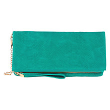 Buy Oasis Felicity Foldover Clutch Bag, Mid Green Online at johnlewis.com
