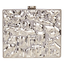 Buy Coast Crinkle Metal Box Clutch Bag Online at johnlewis.com