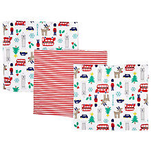 Buy John Lewis Christmas Baby Swaddle Blanket Gift Set, Red/Multi Online at johnlewis.com