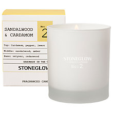 Buy Stoneglow No. 2 Sandalwood & Cardamom Scented Candle Online at johnlewis.com