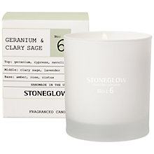 Buy Stoneglow No. 6 Geranium & Clary Sage Scented Candle Online at johnlewis.com