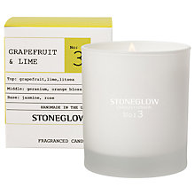 Buy Stoneglow No. 3 Grapefruit & Lime Scented Candle Online at johnlewis.com