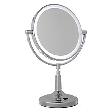 Buy John Lewis Radiance Illuminated Magnifying Pedestal Mirror Online at johnlewis.com