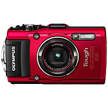 Buy Olympus TG-4 GPS Waterproof, Freezeproof, Shockproof, Dustproof Compact Digital Camera, Red with Sport Camera Case Online at johnlewis.com