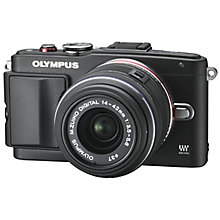 "Buy Olympus PEN E-PL6 with M.ZUIKO DIGITAL 14-42mm Lens, 16.1MP, HD 1080p, Wi-Fi, 3"" LCD Vari Angle Touch Screen Online at johnlewis.com"
