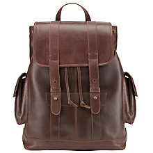 Buy JOHN LEWIS & Co. Leather Backpack, Brown Online at johnlewis.com