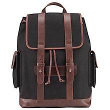 Buy JOHN LEWIS & Co. Waxed Canvas Backpack, Navy Online at johnlewis.com