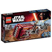 Buy LEGO Star Wars Rey's Speeder Online at johnlewis.com