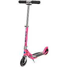 Buy Micro Scooters Micro Flex Classic Scooter, Pink Online at johnlewis.com
