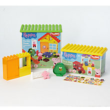 Buy Peppa Pig PlayBIG Bloxx Garden House & Train Stop Construction Set Twin Pack Online at johnlewis.com