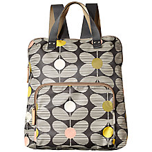 Buy Orla Kiely Daisy Stem Print Zip Pocket Backpack, Multi Online at johnlewis.com
