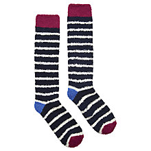 Buy Joules Fabfluffy Knee High Socks, Pair of 1, Ruby Online at johnlewis.com