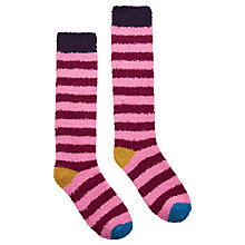 Buy Joules Fabfluffy Knee High Socks, Pair of 1, Blueberry Online at johnlewis.com