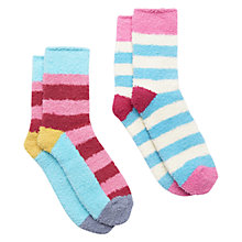 Buy Joules Fabfluffy Ankle Socks Gift Set, Pack of 2, Pink Online at johnlewis.com