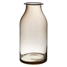 Buy John Lewis Croft Mocha Bottle Vase, 32cm Online at johnlewis.com