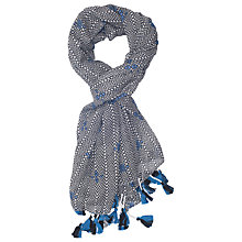 Buy French Connection Lou Lou Scarf, Blue/Multi Online at johnlewis.com