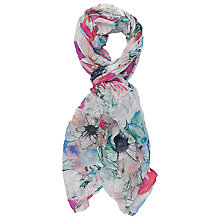 Buy French Connection Kareena Scarf, Reef/White Online at johnlewis.com
