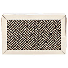 Buy French Connection Aztec Clara Box Clutch Bag, Black/White Online at johnlewis.com