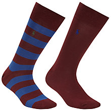 Buy Polo Ralph Lauren Rugby Socks, Pack of 2, One Size Online at johnlewis.com
