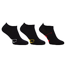 Buy Polo Ralph Lauren Trainer Socks, Pack of 3, One Size Online at johnlewis.com