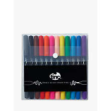 Buy Tinc Double Deluxe Brush Marker Pens, Pack of 12 Online at johnlewis.com