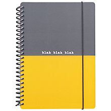 Buy Go Stationery Blah Blah Blah A5 Notebook, Grey and Yellow Online at johnlewis.com