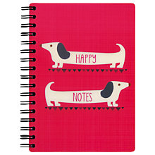Buy Go Stationery Happy Notes A6 Notebook, Red Online at johnlewis.com