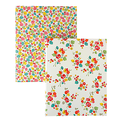 Cath Kidston A4 Ringbinders, Set of 2, Woodland Rose
