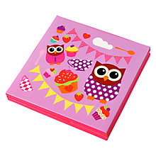 Buy Fourth Wall Hoot Tea Party Note Cards, Pack of 8 Online at johnlewis.com