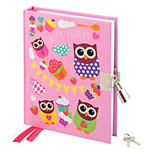Buy Fourth Wall Hoot Tea Party Lockable Journal Online at johnlewis.com