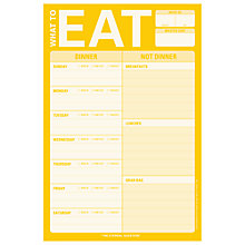 Buy Knock Knock What To Eat Notepad Online at johnlewis.com