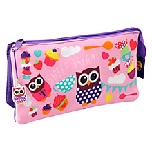 Buy Fourth Wall Hoot Tea Party 3 Pocket Pencil Case Online at johnlewis.com