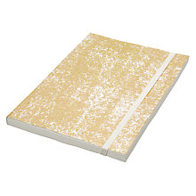 Buy Vivid Crushed Foil A5 Notebook, Gold Online at johnlewis.com