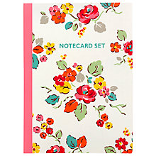 Buy Cath Kidston Note Cards, Set of 8, Woodland Rose Online at johnlewis.com