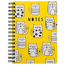 Buy Go Stationery Cats A6 Notebook, Yellow Online at johnlewis.com