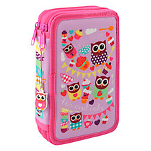 Buy Fourth Wall Hoot Tea Double Tier Pencil Case and Stationery Set Online at johnlewis.com