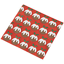 Buy Ginger Ray Christmas Pudding Napkins, Pack of 20 Online at johnlewis.com