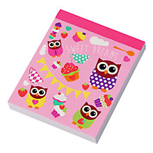 Buy Fourth Wall Hoot Tea Party Mini Notepad Online at johnlewis.com