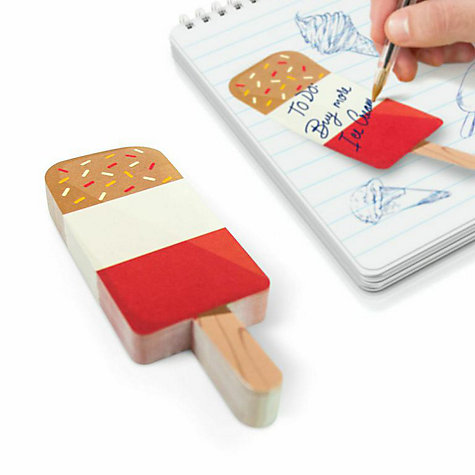 Buy Mustard Rainbow Ice Cream Sticky Notes Online at johnlewis.com