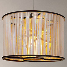 Buy Tom Raffield Cage Pendant Light, Birch/Ash Online at johnlewis.com