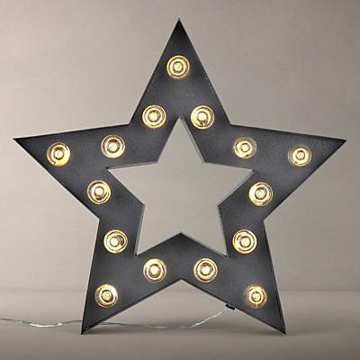 John Lewis LED Star Sign, Grey