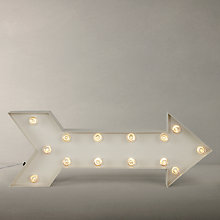Buy John Lewis LED Arrow Lit Sign, Ivory Online at johnlewis.com