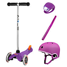 Buy Micro Scooters Mini Set, Purple Online at johnlewis.com