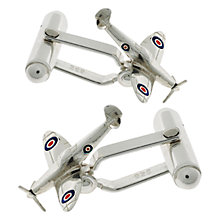 Buy Nina Breddal Spitfire Cufflinks, Silver Online at johnlewis.com