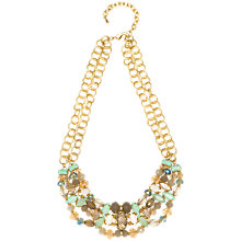 Buy Adele Marie Double Gold Chain Beaded Necklace, Gold Online at johnlewis.com