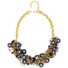 Buy Adele Marie Gold Chain Purple Beaded Rope Necklace, Gold Online at johnlewis.com
